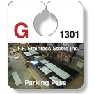 PT6-020-4CP .020 Stock Shape White Gloss Vinyl Plastic Parking Tags