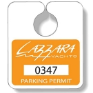 PT6-020 .020 Stock Shape White Gloss Vinyl Plastic Parking Tags
