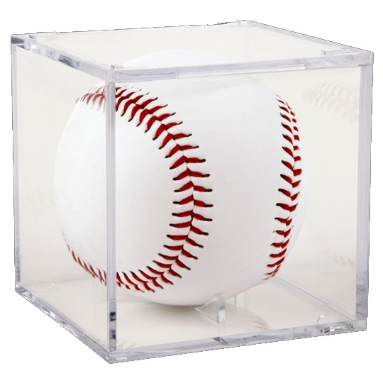 Grandstand Baseball Display Case with Cradle Base