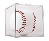 Softball Clear Square Two Piece Display Case