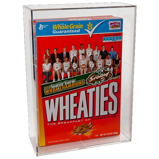 Cereal Box Clear, Square Wheaties Display Case