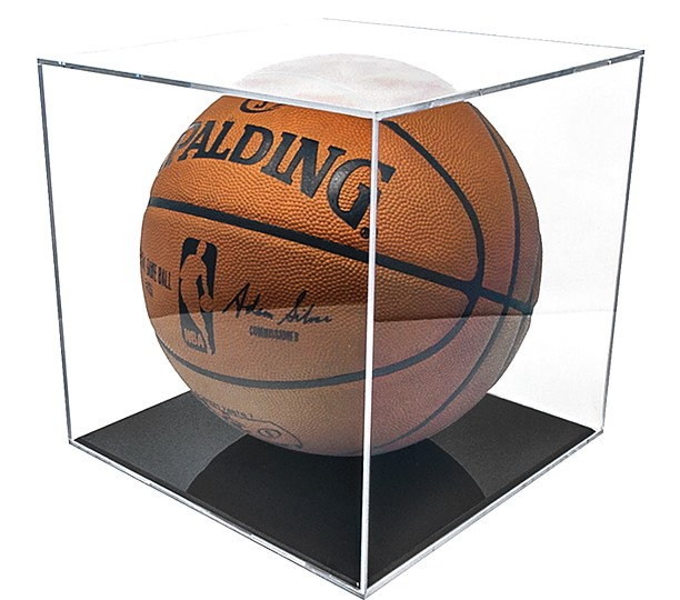 UV Protected Basketball Display on Wood Base