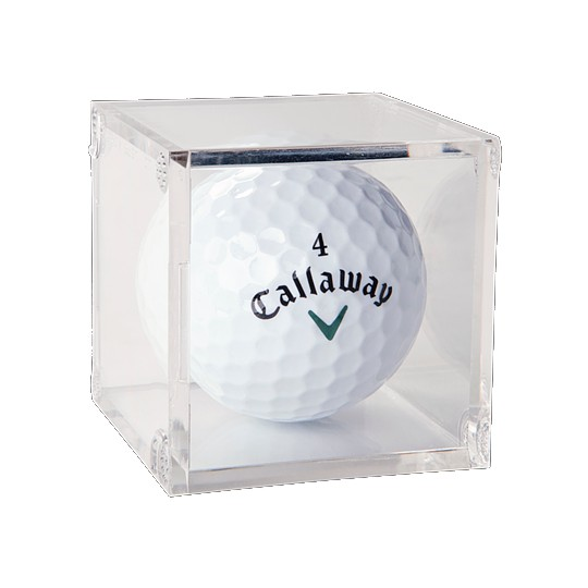 Golf Ball Clear Square Display Case