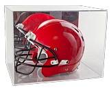 Helmet Display Case with Mirrored Back