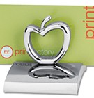 BMA3668-AP - Chrome Metal Business Card Holder (Apple)