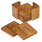 Bamboo 6 Coaster Set