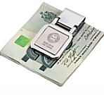 Stainless steel two-tones money clip