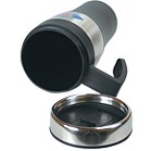 0635 - Silver accent thermal mug - 14 oz