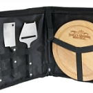 0820 - Portable 3 Pieces Cheese Knife & Board Set