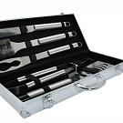 0472S - 5 Pieces BBQ Tool Set in Silver Case