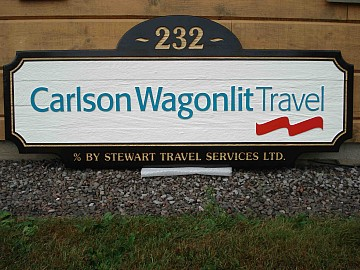 Custom Carved Wagonlit Sign