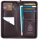 L209-2-1 - Passport/Ticket Holder with Zipper black