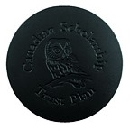 L651-17-1 - Smooth Leather single round coaster black