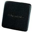 Black Square Genuine Firm Leather Coaster