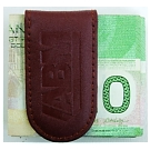 L9205-3 - Leather Money clip brown