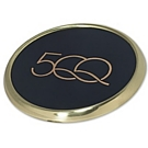 L9654 - Polished Brass Single Desktop Coaster