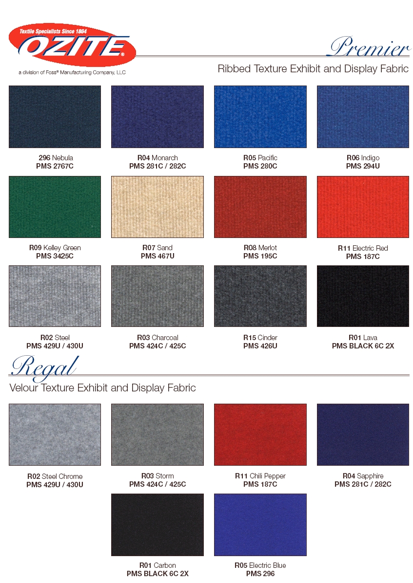 Display Fabric Colours