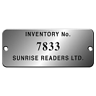 S-36AT - Aluminum Property Tags