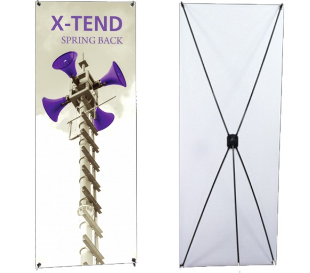 X-TEND-5 - Spring Back Banner Stand