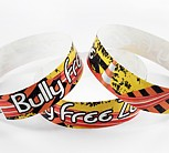 "Tyvek 3/4"" Full Color Wristband (Bully Free Zone)"