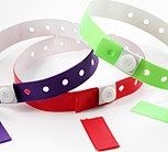Vinyl Slim 1-Stub Wristbands