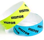 "Tyvek® 1"" Stock Pattern Visitor Wristbands,"