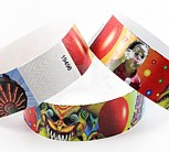 Wristbands for Amusement & Water Parks.