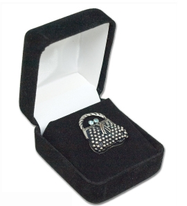 Suedine Jewlry Box/ Lapel Pin