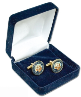 Suedine Jewlry Box/ Cuff Links