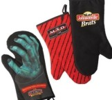 BBQM - 1 Barbeque Mitts - Polycotton Twill Lining Pot Holders