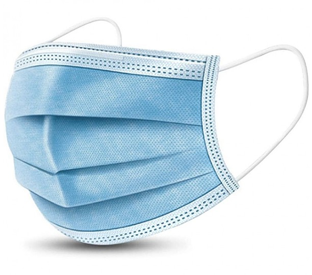 BL670 - 3-Ply Disposable Face Mask, Blank only