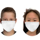 BL677 - 2ply Antimicrobial YOUTH White Cloth Face mask,