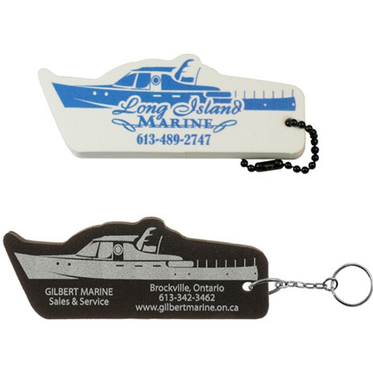 Custom Foam Key Fobs - BOA701 - Boat Floating Key Tag
