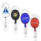 CK-306 - Retractable Badge Holder w/ Carabiner Clip