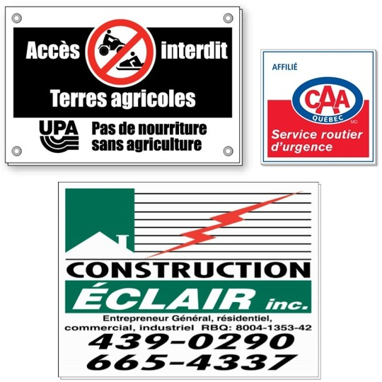 Screen Printing Coroplast Signs - CS-12 - Custom Plastic