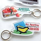 Clear Cut Acrylic Key Tags