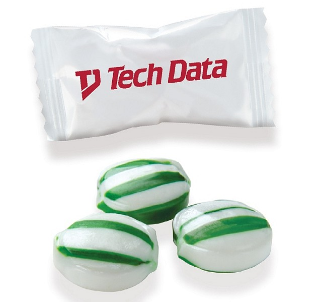 CY-WC-GSM - Individually Wrapped Green Striped Mints