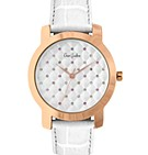 347-00WHWH - Crystal Quelted Ladies Watch