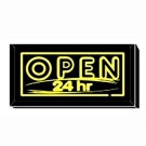 OPEN 24 hr Sign
