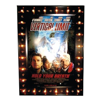 Lighted movie poster marquee