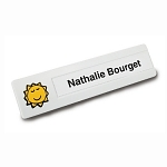 Slimline Personalized badge