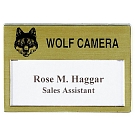 "MP-366 - Hot Stamped Window Badge - 3"" x 2"""