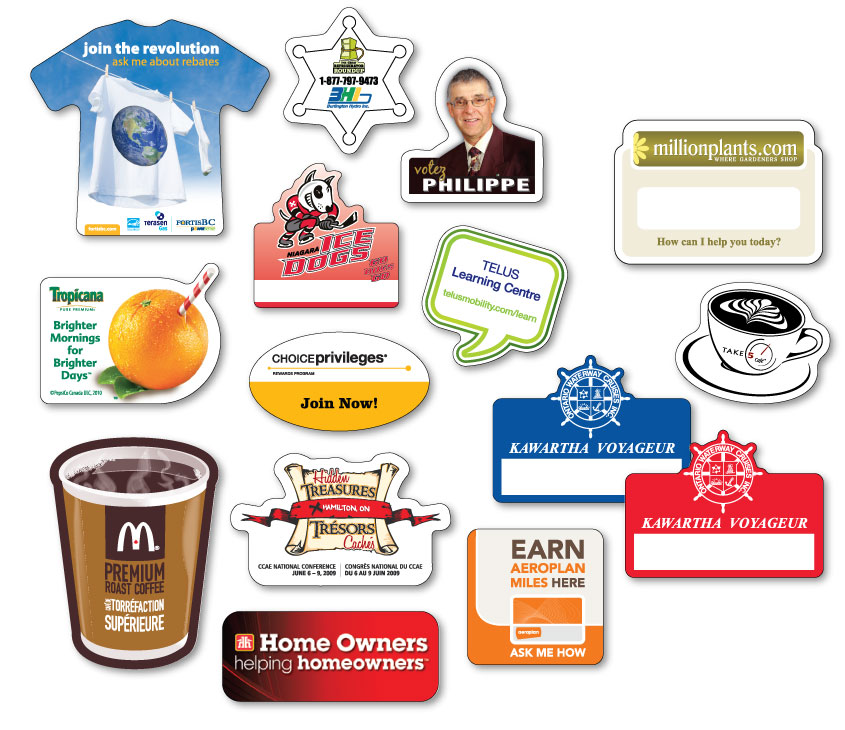 Printed Badges - Custom Badges - Custom Shaped Badges