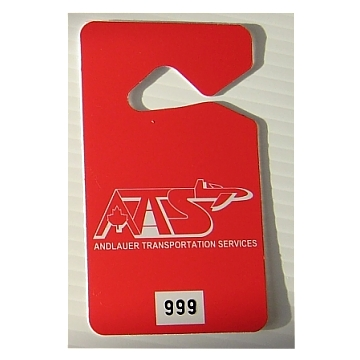 Screen Printed Plastic Parking Tags