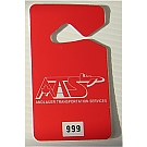 2475 - Custom Screen Printed Plastic Parking Tags