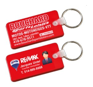 10181 - Colored flexible key-rings, Rectangle