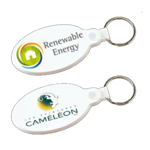 10197 - Colored flexible key-rings, Oval