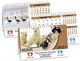 Wildlife Double View Calendar - PCA3775