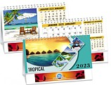 Tropical - Double View Calendar - PCA3780