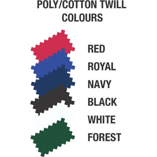 Poly Cotton Twill Colour Chart